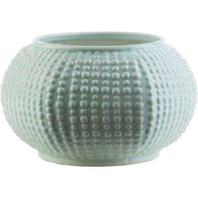 Verim 5.91 in. Sage Ceramic Decorative Vase