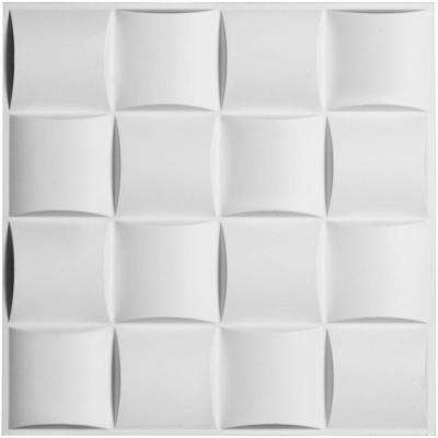 5/8 in. x 19-5/8 in. x 19-5/8 in. PVC White Baile EnduraWall Decorative 3D Wall Panel