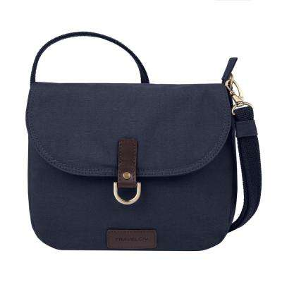 Courier Navy Blue Anti-Theft Saddle Crossbody Bag