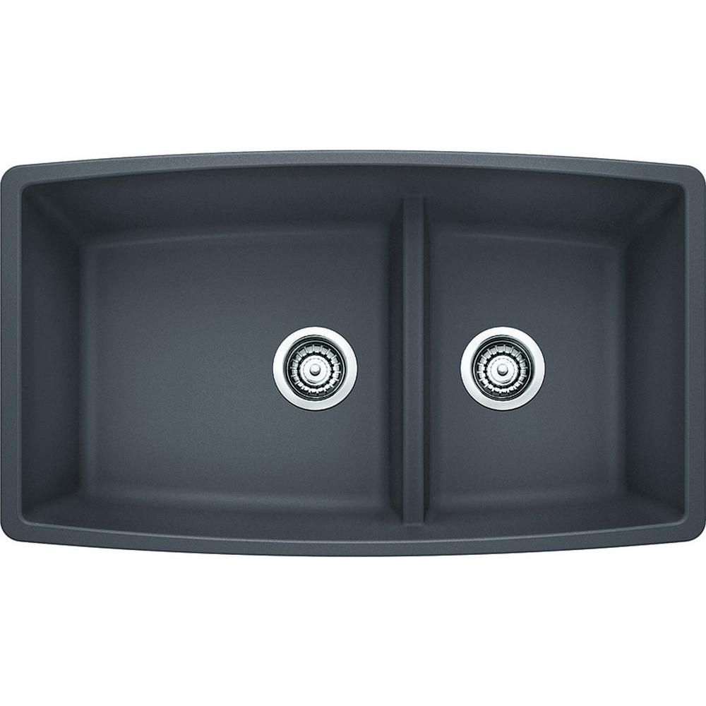 Blanco Performa Undermount Granite Composite 33 In Medium 134 Bowl  Kitchen Blanco Cinder Sink6
