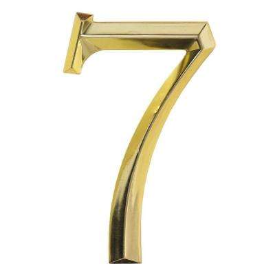 Classic 6 in. Polished Brass Number 7