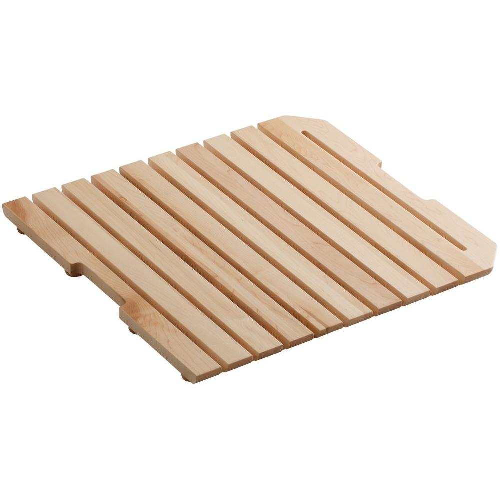 kohler harborview wood grate for the k 6607 utility sink k 6026 na the home depot - Kohler Sple Dienstprogramm Rack