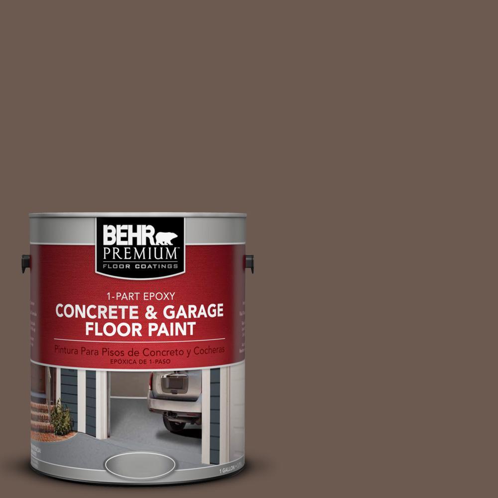 1 gal. #N180-7 Oiled Teak 1-Part Epoxy Concrete and Garage Floor Paint