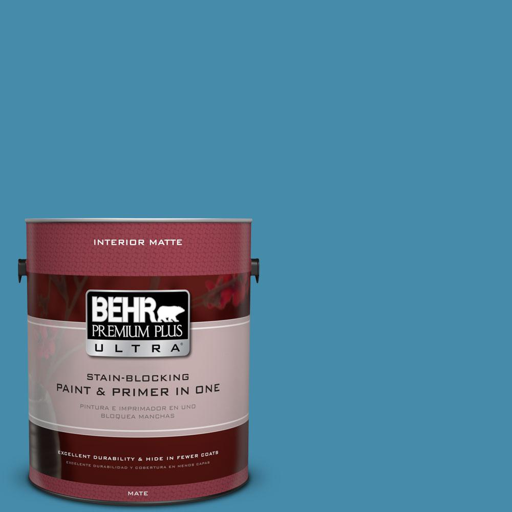 1 gal. #550D-6 Blue Chaise Flat/Matte Interior Paint