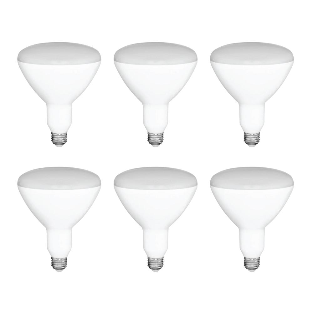 GLOBAL VALUE LIGHTING 65-Watt Equivalent BR30 Dimmable LED Light Bulb Soft White (6-Pack)