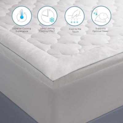 250 Thread Count Serenity Cool Sleep Polyester Filled Queen Mattress Pad