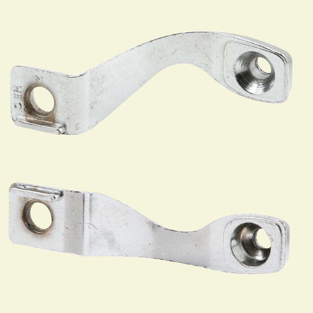 Prime Line Chrome Plated Sliding Door Handle Brackets (1 Pair)