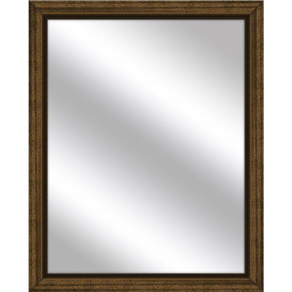 Medium Rectangle Dark Gold Art Deco Mirror (32.75 in. H x 26.75 in. W)