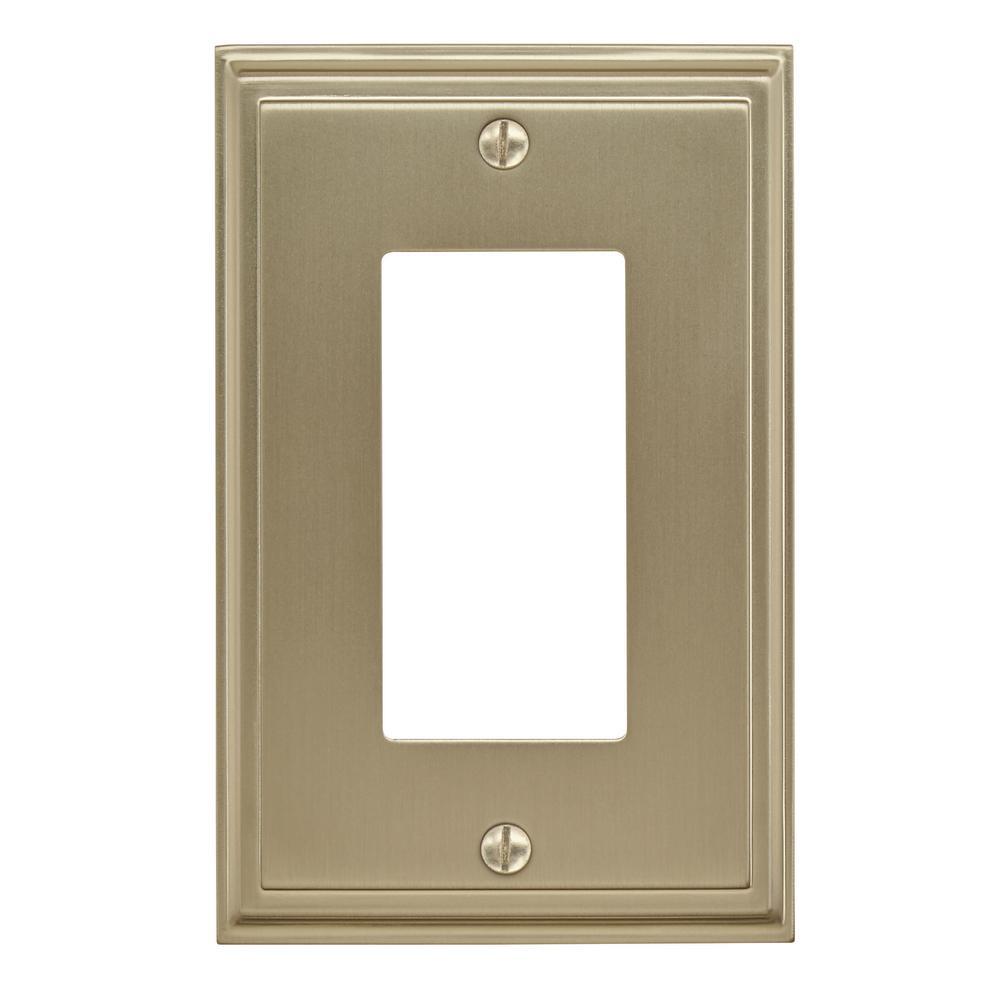 Gold 1-Gang Decorator/Rocker Wall Plate (1-Pack)