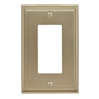 Mulholland 1-Rocker Wall Plate, Golden Champagne