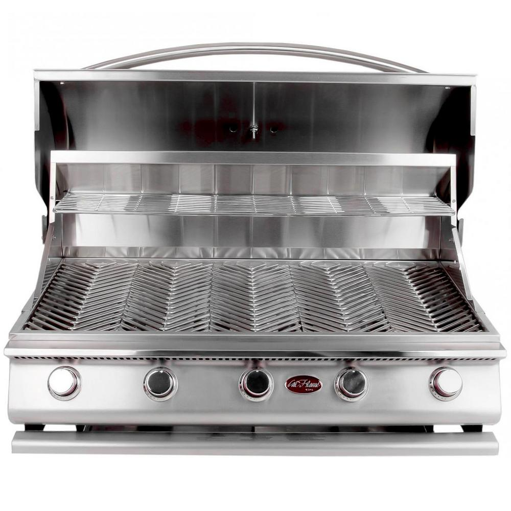 Cal Flame Gourmet Series 5-Burner Built-In Stainless Steel Propane Gas Grill