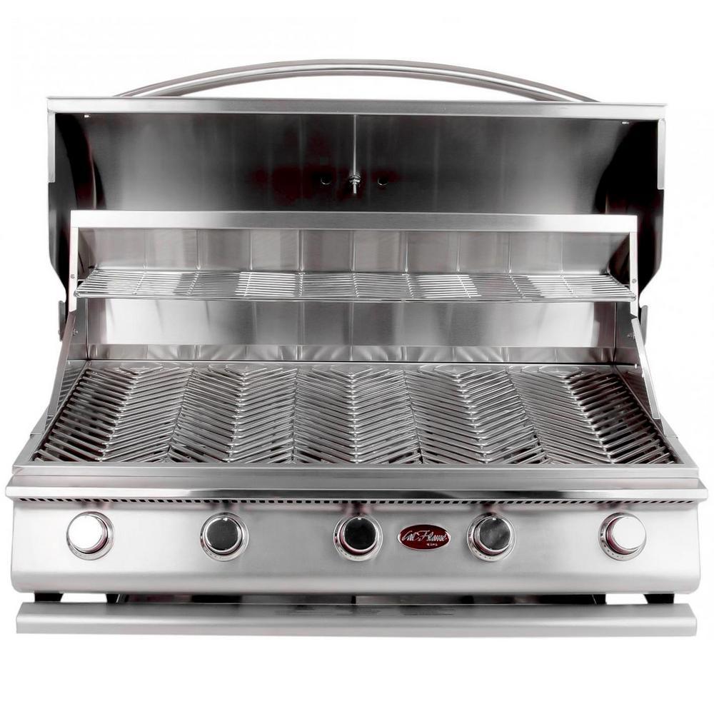 Gourmet Series 5-Burner Built-In Stainless Steel Propane Gas Grill