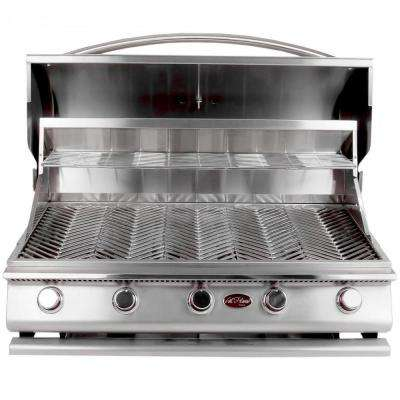 Cal Flame Gourmet Series 5 Burner Built In Stainless Steel Propane Gas Grill
