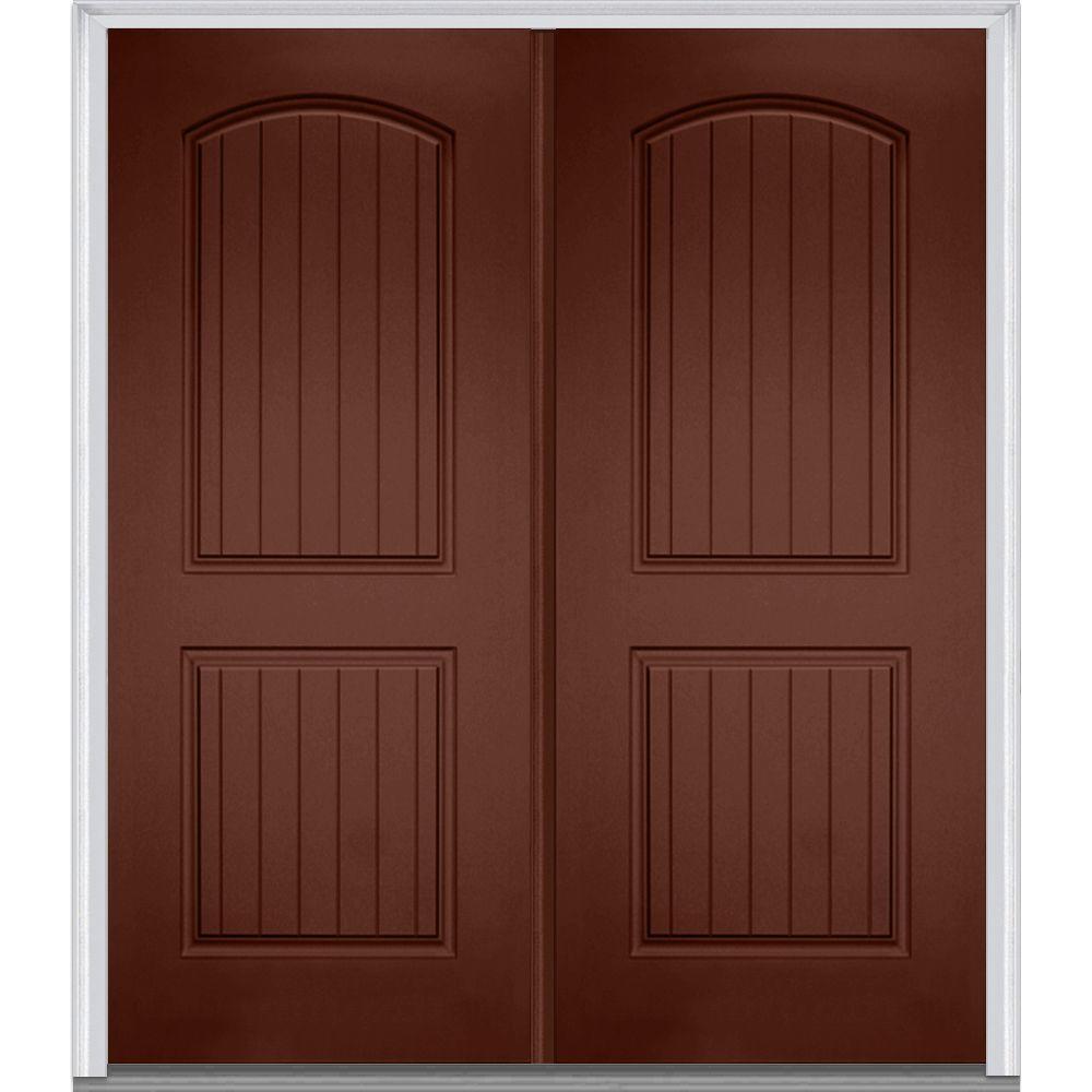 Mmi door 72 in x 80 in right hand inswing 2 panel for Prehung entry door with storm door