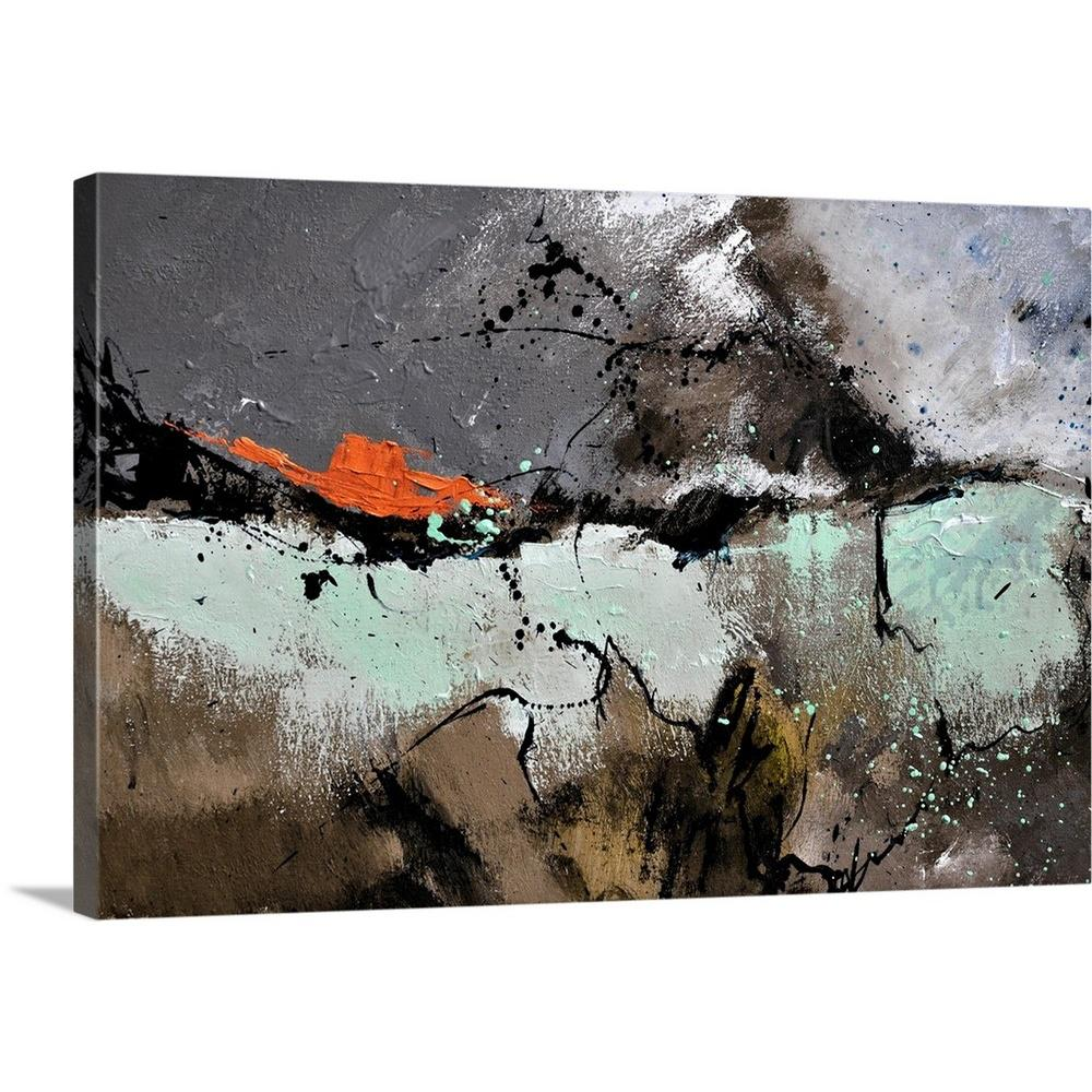 Brown And White Canvas Wall Art Abstract