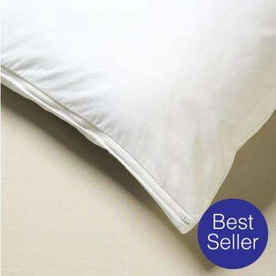 All-Cotton Allergy White Queen Pillow Cover