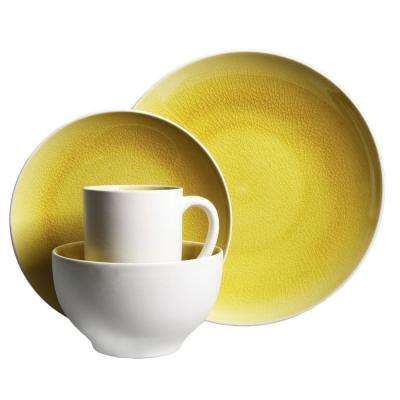 Serenity 16-Piece Amber Dinnerware Set