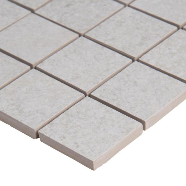 Brixstyle Blanco 12 in. x 12 in. x 10mm Matte Porcelain Mesh-Mounted Mosaic Tile (6 sq. ft. / case)