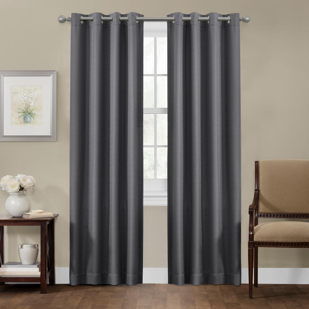 Maytex Sheridan 50 in. x 84 in. 100% Blackout Smart Curtain Window Panel