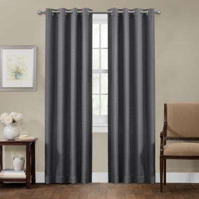 Sheridan 50 in. x 84 in. 100% Blackout Smart Curtain Window Panel