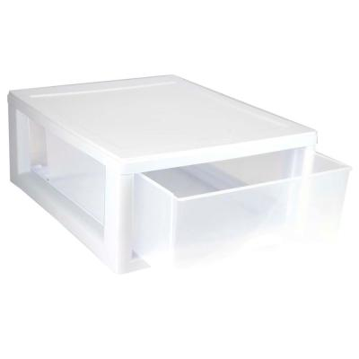 Sterilite 16 Qt Single Box Modular Stacking Storage Drawer 1-Container 14.38 in. W x 6.88 in. H (24-Pack)