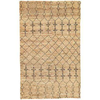 Natural Taos Taupe 9 ft. x 12 ft. Tribal Area Rug