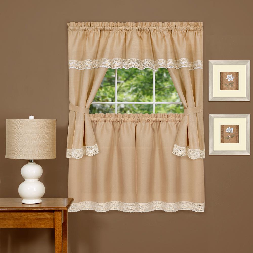 Achim Sheer Harwood 36 In. L Embellished Cottage Window