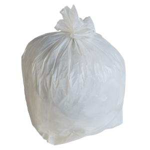 24 in. W x 31 in. H 16 Gal. 1 Mil White Trash Bags (250-Count)