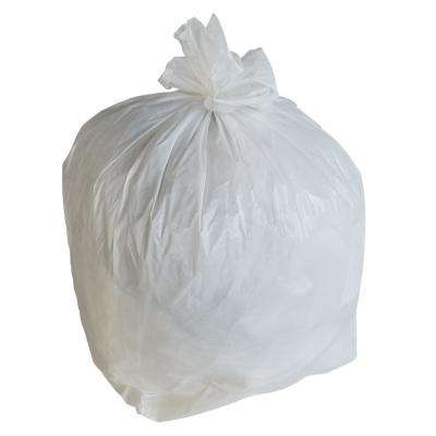 24 in. W x 31 in. H 16 Gal. 1 Mil White Trash Bags (250-Case)