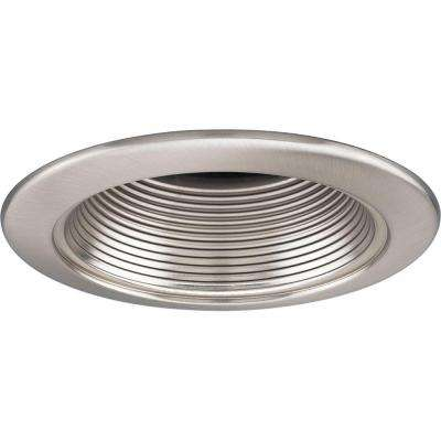 4 in. 12-Volt Brushed Nickel Recessed Baffle Trim