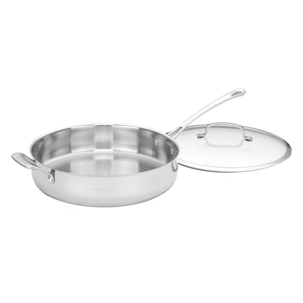 Contour Stainless Steel 5 Qt. Saute Pan with Helper Handle and