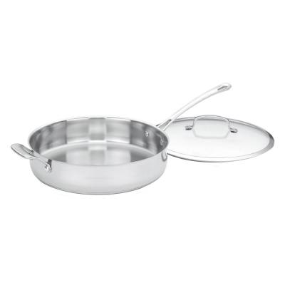Contour Stainless Steel 5 Qt. Saute Pan with Helper Handle and Cover