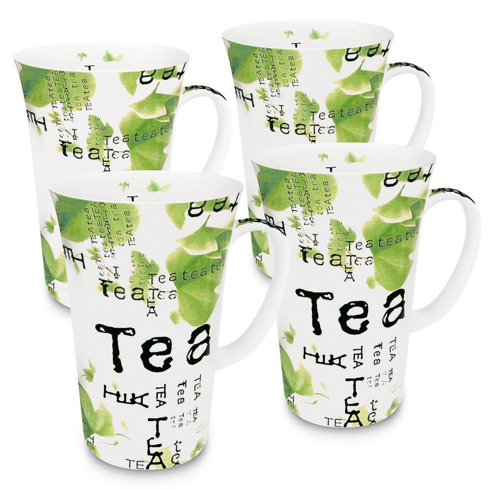 Konitz 4-Piece Tea Collage Porcelain Mega Mug Set