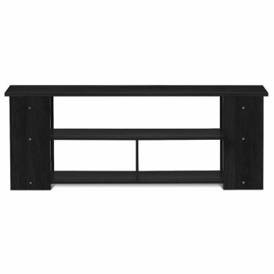 Black Rustic 7-Tier 50-in Wood Storage Cabinet TV Stand Console