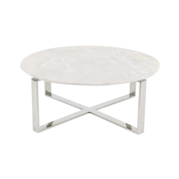 Round Coffee Tables With Marble Top: Litton Lane Modern Marble Top Round Coffee Table 57340