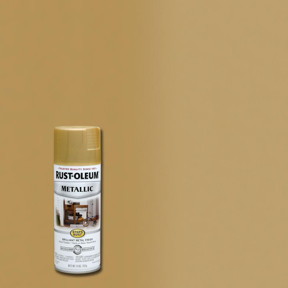 Rust-Oleum Stops Rust 11 oz. Metallic Gold Rush Protective Spray Paint