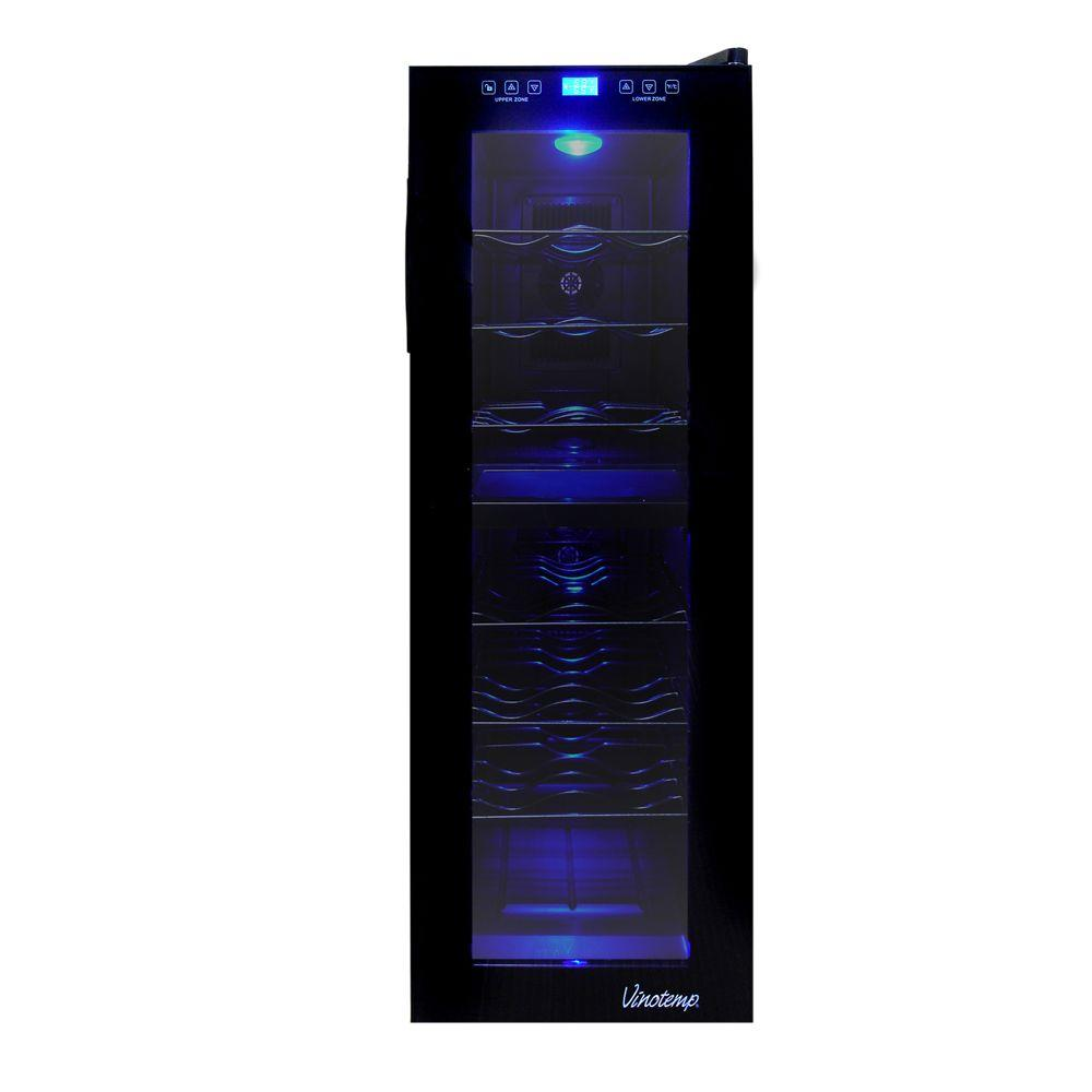 21-Bottle Dual-Zone Touch Screen Wine Cooler
