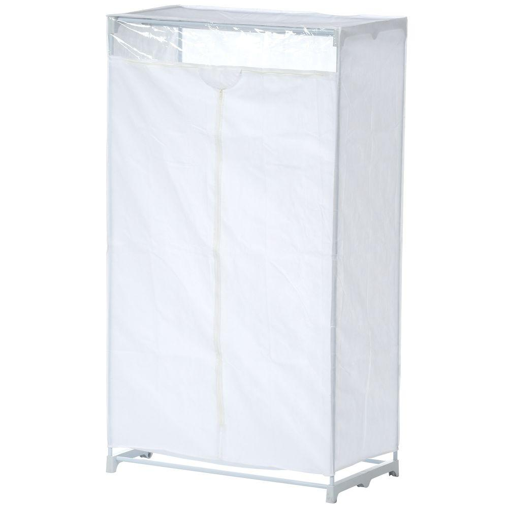 Honey Can Do 63 In H X 36 In W X 20 In D Portable Closet In White