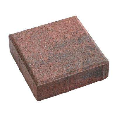 8 in. x 8 in. x 2.25 in. Red/Charcoal Concrete Holland Paver
