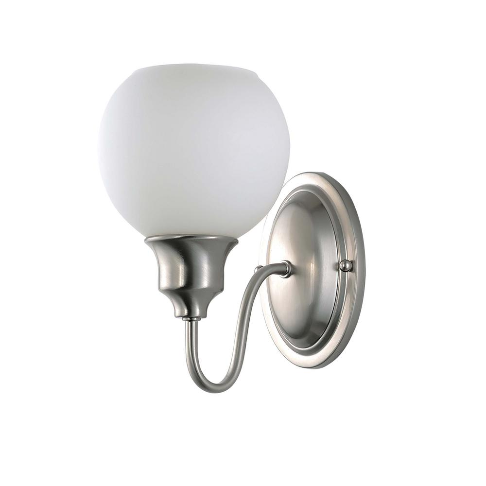 Ballord 6 in. Wide Satin Nickel Sconce