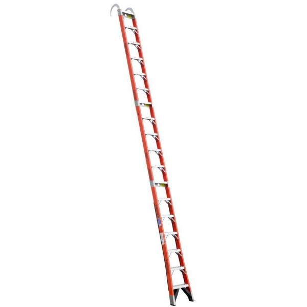 18 ft. Fiberglass Straight Posting Ladder with 300 lb. Load Capacity Type IA Duty Rating