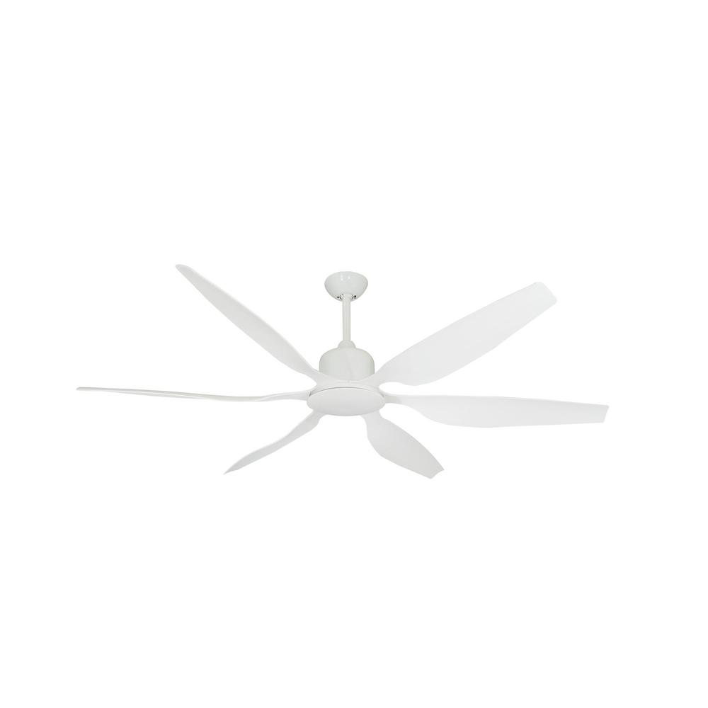 Titan II 66 in. Indoor/Outdoor Pure White Ceiling Fan with Remote