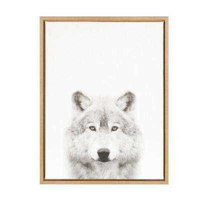 """24 in. x 18 in. """"Wolf"""" by Tai Prints Framed Canvas Wall Art"""