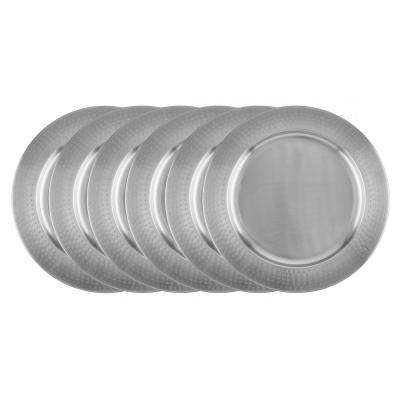 Stainless Steel Charger Plate - Hammered Rim (Set of 6)  sc 1 st  Home Depot & Stainless Steel - Dinner Plates - Dinnerware - Tabletop u0026 Bar - The ...