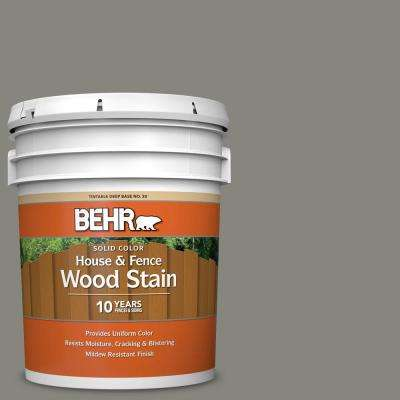 5 gal. #SC-137 Drift Gray Solid Color House and Fence Exterior Wood Stain