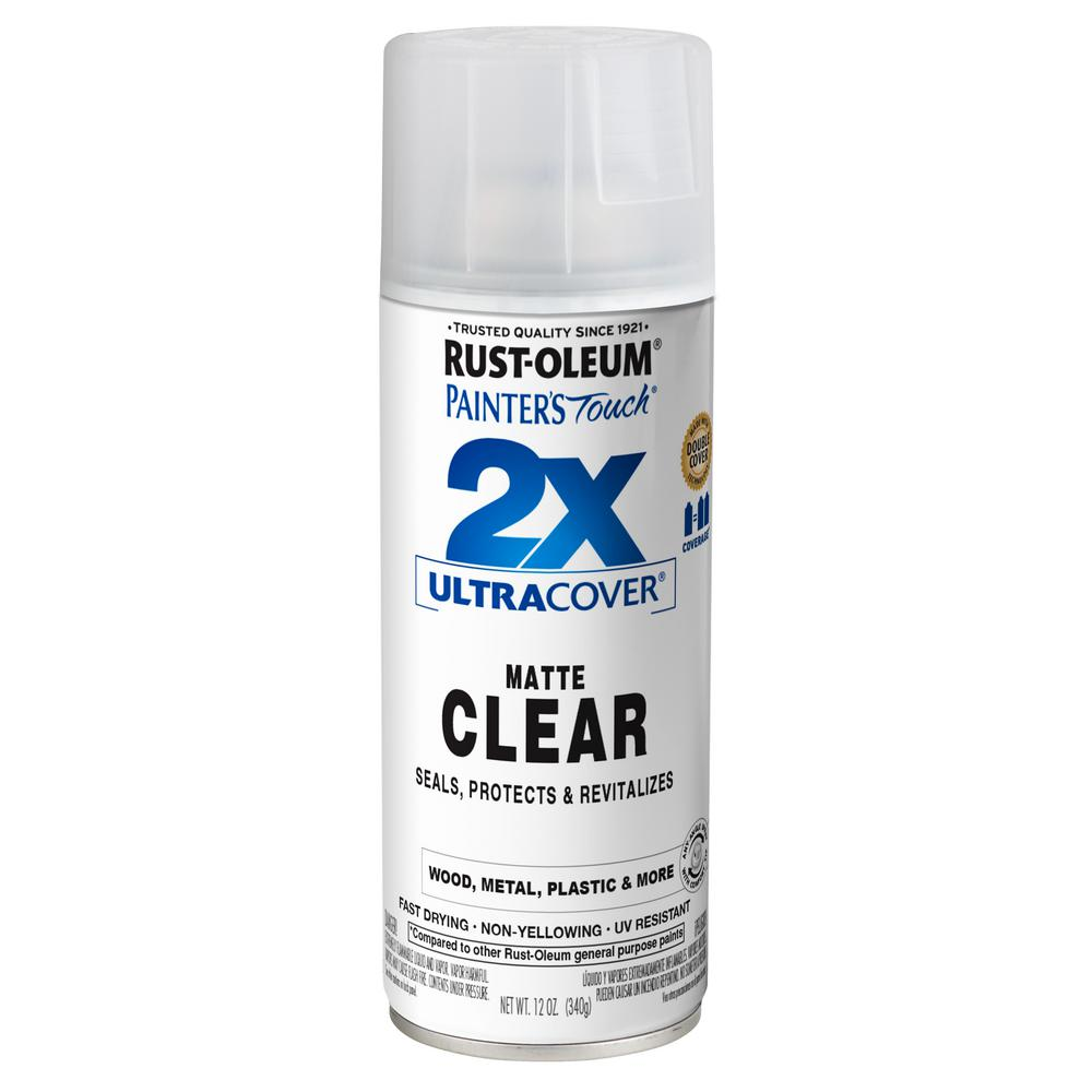Rust Oleum Painter S Touch 2x 12 Oz Matte Clear General Purpose Spray Paint 334022 The Home Depot