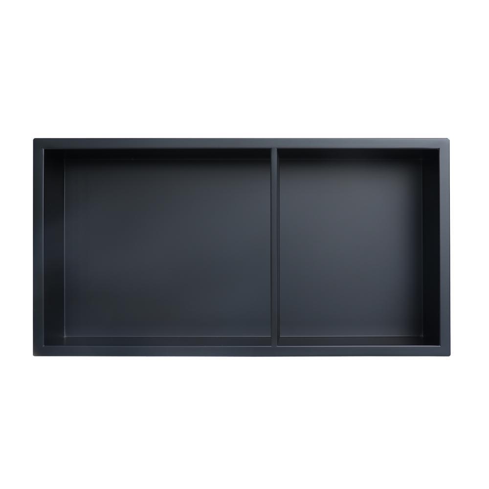 Showroom Series 12 in. x 24 in. Niche with Shelf in Matte Black