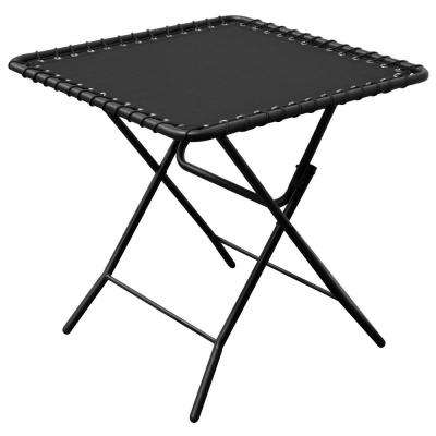 Black Textilene Patio Folding Table