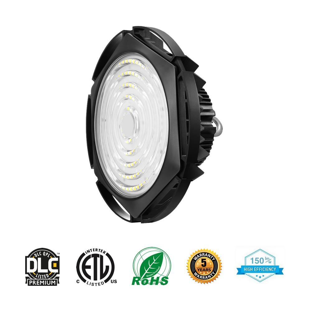 Worldwide Lighting Waterproof UFO 185-Watt Black 5000K 27750 Lumens IP65  Integrated LED High Bay
