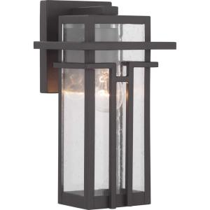 Boxwood Collection 1-Light Bronze Outdoor Wall Lantern Sconce